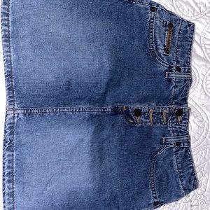 Levi's jean mini skirt
